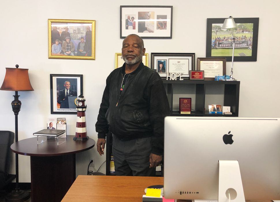 Rev. James Caldwell, who runs a grassroots group in northeast Houston, is concerned about what happens to people when be