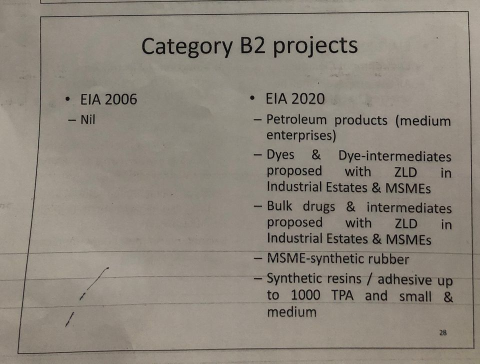 Part of a powerpoint presentation given by officials to environment minister Prakash Javadekar on 24...