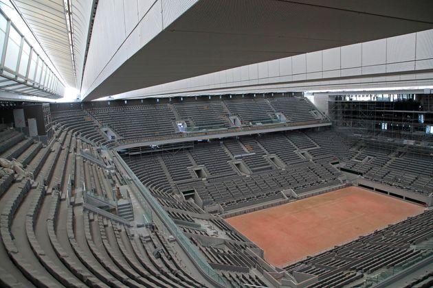 Roland Garros accueillera jusqu'à 20.000 spectateurs par jour (photo d'illustration du court Philippe-Chatrier...