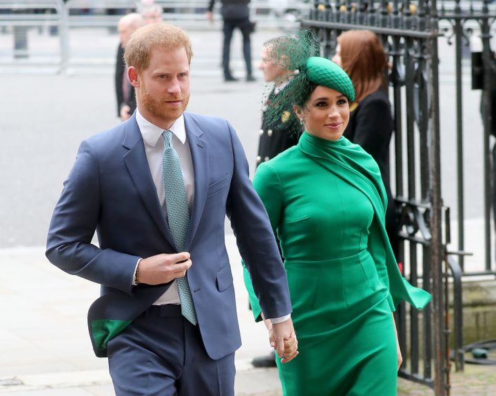 The Duke and Duchess of Sussex attends the Commonwealth Day Service on March 9 in London.