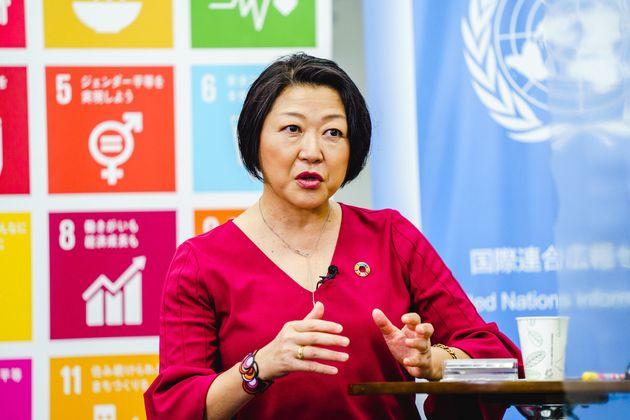 ライブ番組「『世界平和』のために、私は何ができる?」で語る国連広報センターの根本かおる所長