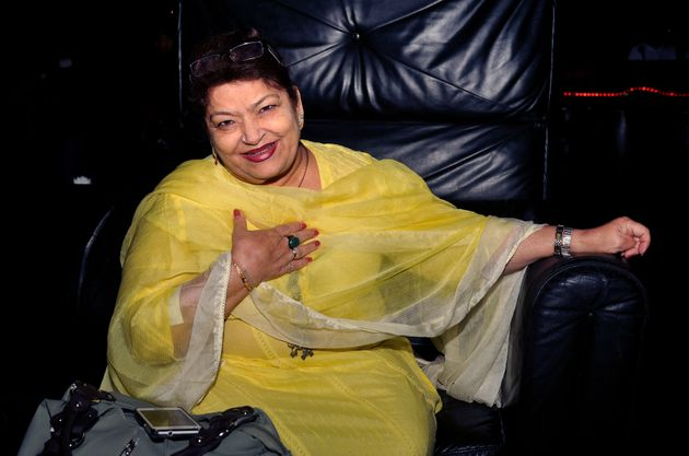 Bollywood dance choreographer Saroj Khan in Mumbai on December 12,