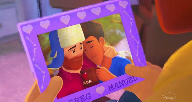 『Disney+』で7月3日に配信された短編アニメーション『Out』(邦題「殻を破る」)