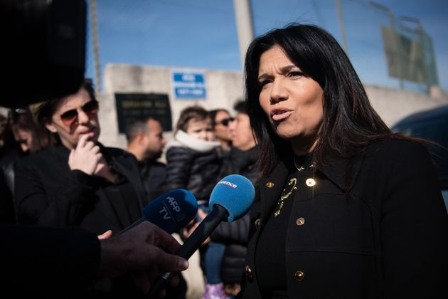 Samia Ghali, during the municipal campaign in