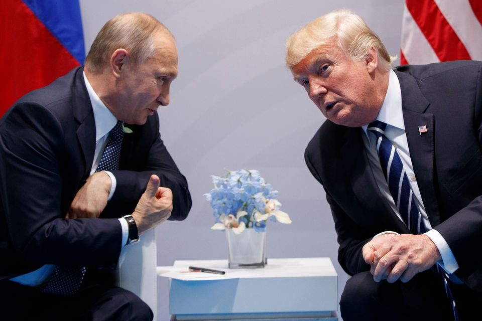 Trump meets with Russian President Vladimir Putin at the G20 Summit in 2017.