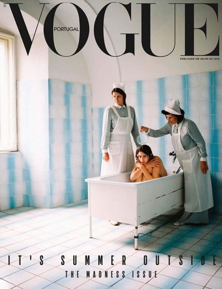 The Vogue Portugal cover, as shared on the publication's Instagram account.