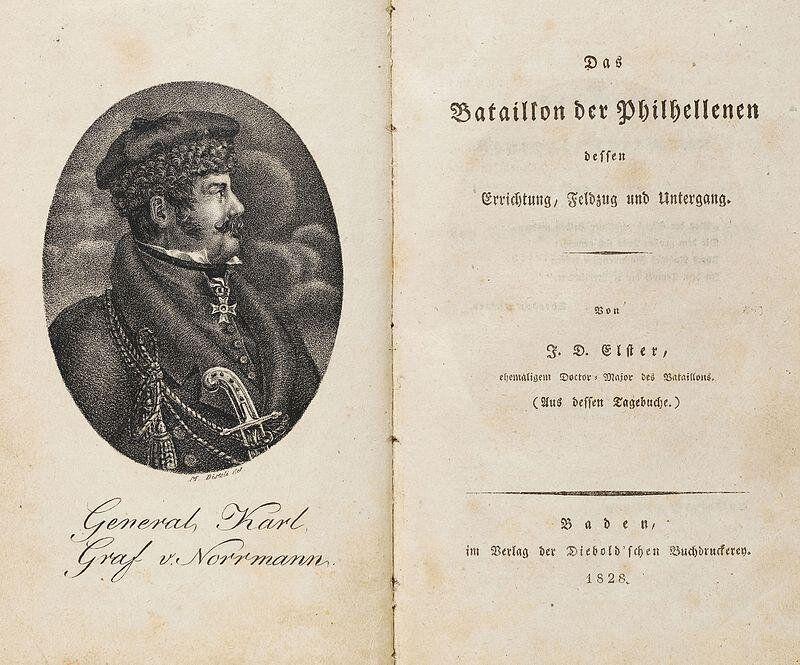 Ο J.D. Elster, εξιστορεί στο βιβλίο του Das Bataillon der Philhellenen, 1828, το ιστορικό της εκστρατείας...