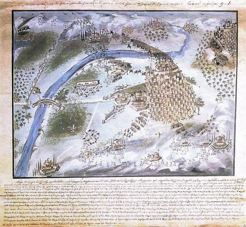 Αναπαράσταση της μάχης του Πέτα. Έργο του Παναγιώτη Ζωγράφου, παραγγελία του Στρατηγού Μακρυγιάννη (Συλλογή