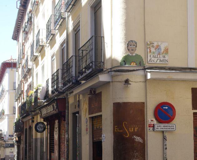 El mosaico de Fernando Simón en la calle de San Simón de