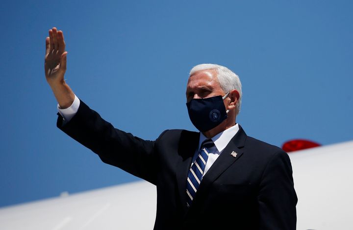 Vice President Mike Pence arrives in Phoenix to meet with Arizona Gov. Doug Ducey on Wednesday. His trip to the state was del