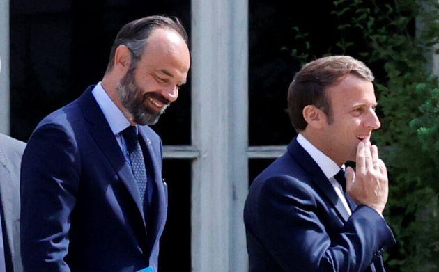 Édouard Philippe et Emmanuel Macron, lundi 29 juin dans les jardins de