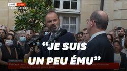 """""""Soyez bon"""", le message d'adieu ému d'Édouard Philippe à son successeur Jean"""