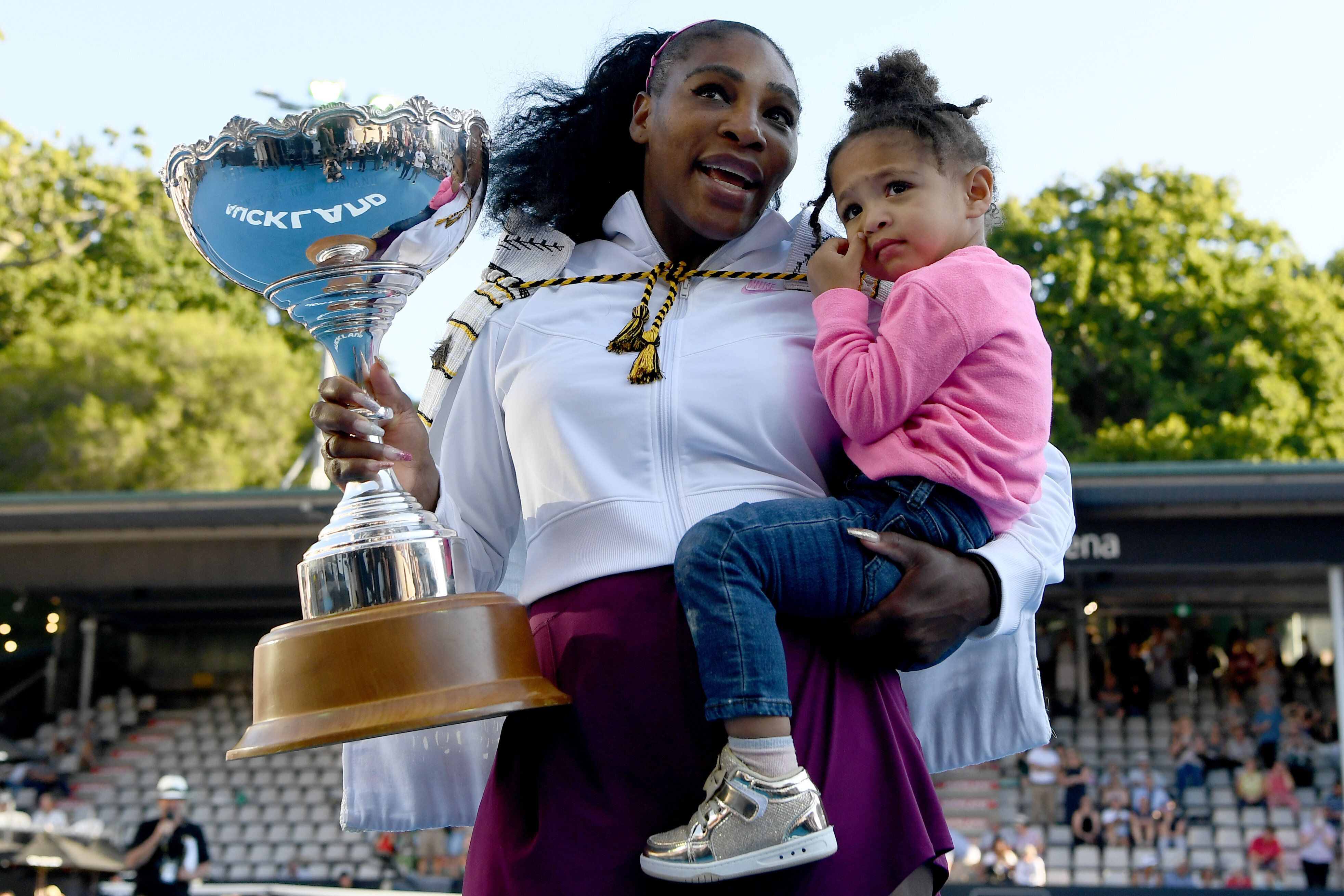 Serena Williams And Daughter Olympia Are Tennis Twins As They Hit Court Together