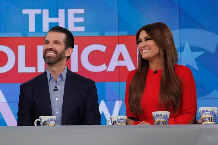 """Donald Trump Jr. and Kimberly Guilfoyle on ABC's """"The View"""" last year."""