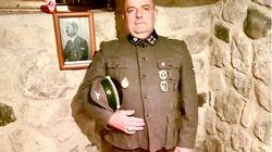 In divisa da SS Gabrio Vaccarin, consigliere comunale di Fratelli d'Italia in