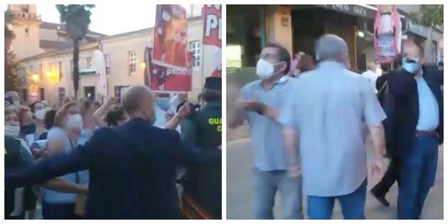 Protesta contra Feijóo en Verín