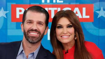 """THE VIEW - Donald Trump Jr. and Kimberly Guilfoyle appeared today, Thursday, November 7, 2019 on ABC's """"The View,"""" as the show celebrated its 5,000th episode.    """"The View"""" airs Monday-Friday 11am-12 noon, ET on ABC.     VW19 (Photo by Lou Rocco/ABC via Getty Images)  DONALD TRUMP JR., KIMBERLY GUILFOYLE"""