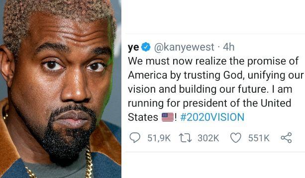 Il rapper Kanye West annuncia la sua candidatura alla presid