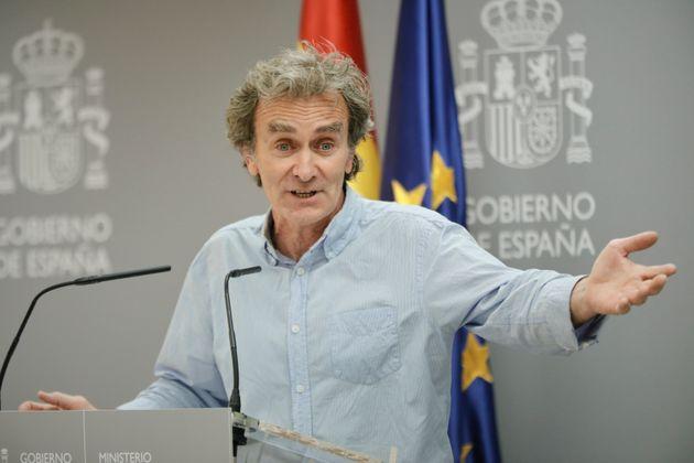 Fernando Simón, en el Ministerio de