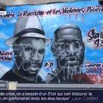 La fresque contre les violences policières recouverte de graffitis à