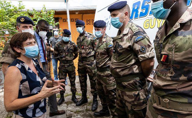 La ministre des Outre-mer Annick Girardin le 24 juin à Saint-Laurent-du-Maroni, en
