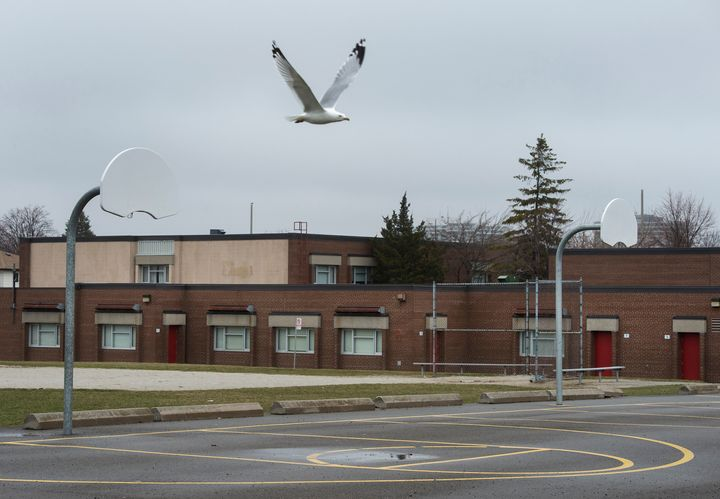 Tomken Road Middle School in Mississauga, Ont., is shown on. March 31, 2020.