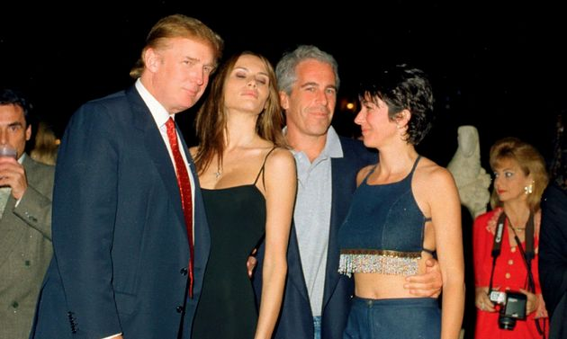 From left, American real estate developer Donald Trump and his girlfriend (and future wife), former model...