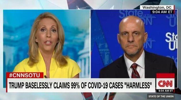 트럼프가 코로나19 환자의 99%는 '완전 무해'하다고 주장했고, FDA는 확인을