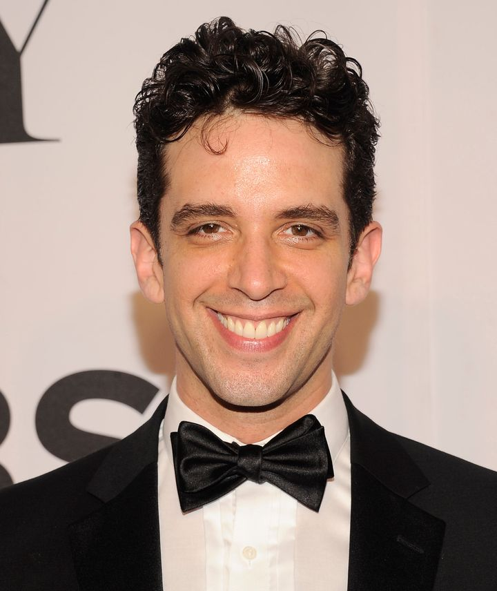 Nick Cordero arrives at the Tony Awards at Radio City Music Hall on June 8, 2014, in New York.