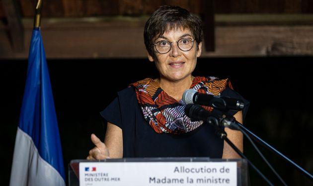 La ministre des Outre-mer Annick Girardin à Cayenne le 24