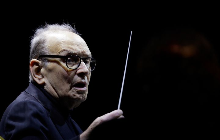 Italian composer Ennio Morricone in this 2018 file photo. The Oscar-winner, who produced more than 400 original scores for fe