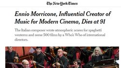 Ennio Morricone non parlava inglese e componeva da Roma. Il ricordo del New York
