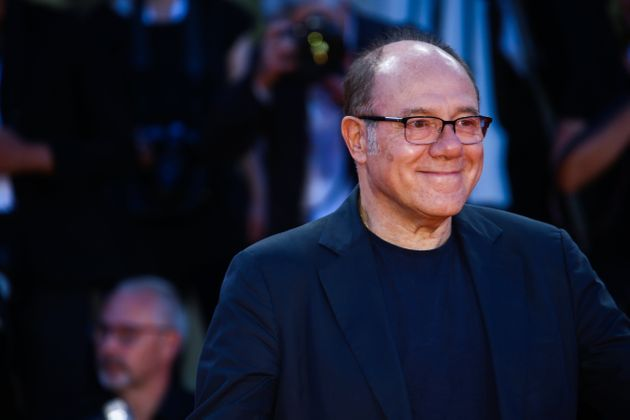Carlo Verdone walks the red carpet ahead of the 'The Sisters Brothers' screening during the 75th Venice...