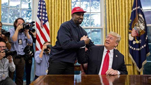 Kanye West con Donald Trumo en la Casa