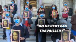 Devant le Louvre, les guides dénoncent leur précarité pendant le
