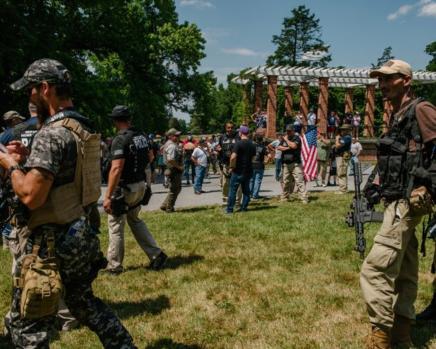 GETTYSBURG, PA - July 4, 2020: An online threat from the supposed leader of Antifa called for the burning...