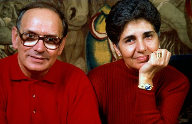 Music composer Ennio Morricone and his wife Maria Morricone Travia, Rome, Italy, 1991. (Photo by Luciano...