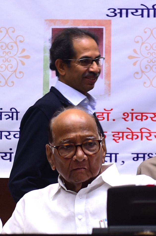 Maharashtra CM Uddhav Thackeray, and NCP chief Sharad Pawar in a file