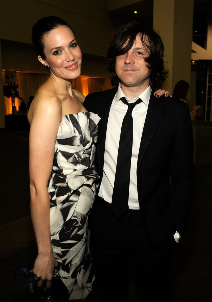 Mandy Moore and Ryan Adams, then a married couple, in 2012.
