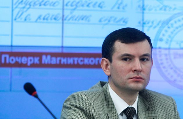Oleg Silchenko speaks at a news conference in Moscow, Thursday, December 8,