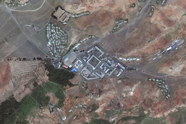 Satellite imagery of Kaechon concentration camp (Kyo-hwa-so No. 1) - a reeducation camp in North