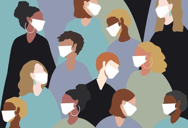 winter, virus, coronavirus, medical mask, face mask, china virus, group, people, women, man, sick, heat,...