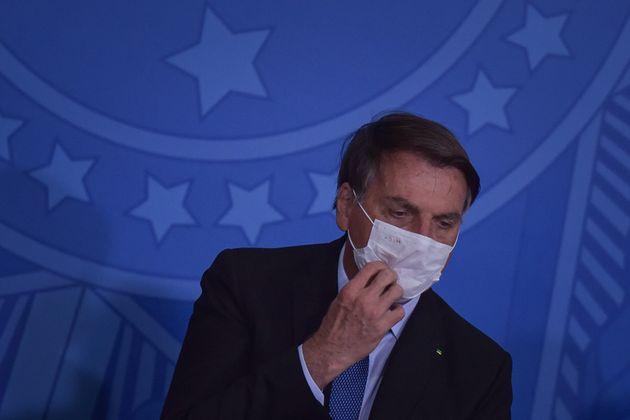 Jair Bolsonaro, el 30 de junio de 2020 en Brasilia (Andre Borges/NurPhoto via Getty