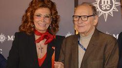 Sophia Loren piange Ennio Morricone: