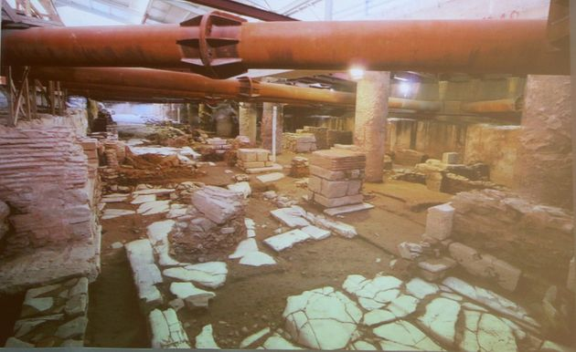 Εικόνα από παρουσίαση μελέτης για το Σταθμό Βενιζέλου με κατά χώραν διατήρηση των αρχαιοτήτων που έχουν