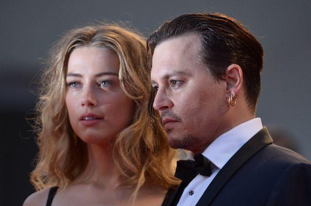 Nouveau face à face judiciaire entre Johnny Depp et Amber Heard à Londres. (Photo prise...