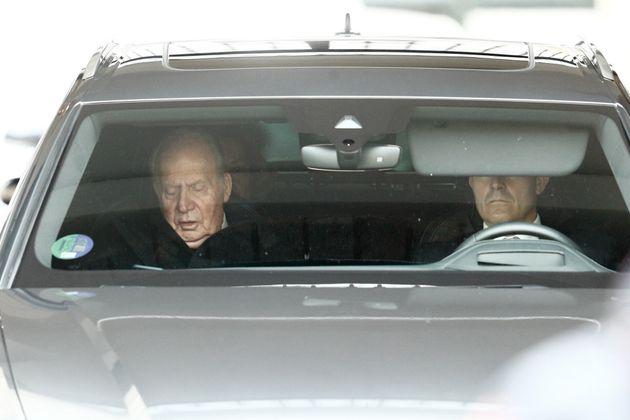 El rey Juan Carlos durante el funeral de la Infanta Pilar de Borbón, el pasado 29 de enero en