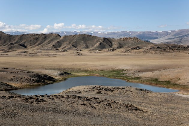 Beautiful view of steppe in