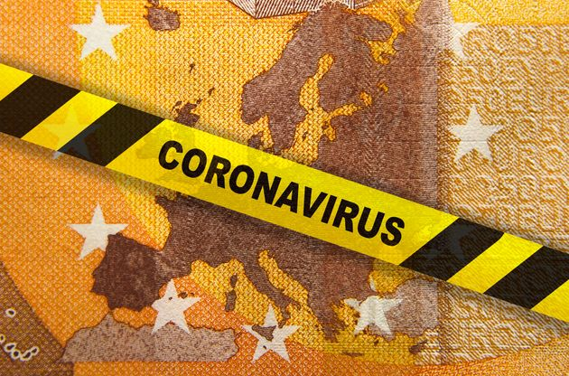 Economy and financial markets affected by corona virus outbreak and pandemic fears. Digital