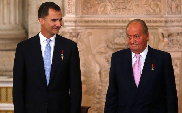 El rey Felipe VI y el rey emérito Juan Carlos I, en